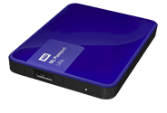 Western Digital My Passport 2.5 Inch externe HDD 1TB Blauw