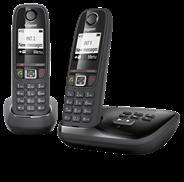 Gigaset AS405A Dect-telefoon met 1 extra handset en antwoordapparaat