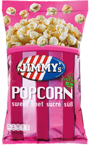 Jimmy's Popcorn Family bag zoet 150 gram