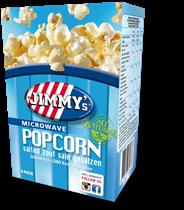Jimmy's Popcorn Microwave zout 3 x 90 gram