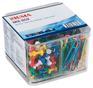 Sigma Mix box paperclips punaises