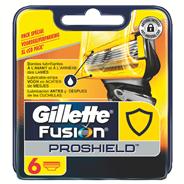 Gillette Fusion proshield Navulmesjes geel 6 stuks