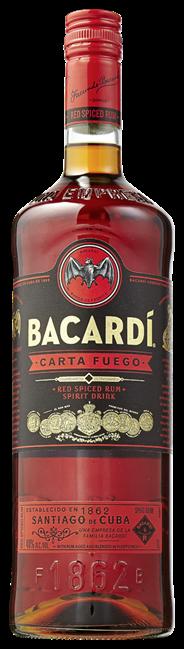 Bacardi Carta fuego 6 x 1 liter
