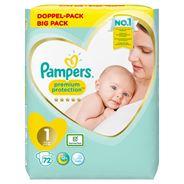 Pampers Premium Protection Maat 1, x72 Luiers, 2kg-5kg