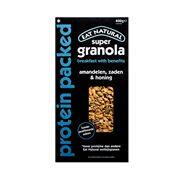 Eat Natural super granola protein packed amandelen, zaden & honing 400g