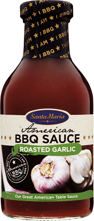 Santa Maria American BBQ sauce roasted garlic 440 gram