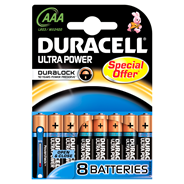 Duracell Ultra Power Alkaline 1.5V niet-oplaadbare batterij