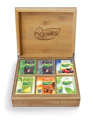 Pickwick bamboe houten Fairtrade theekist 6-vaks