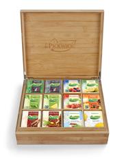 Pickwick bamboe houten Fairtrade theekist 12-vaks