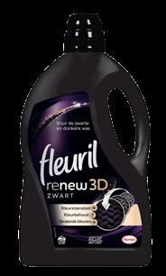 Fleuril renew 3D zwart 4,2 liter 70 wasbeurten