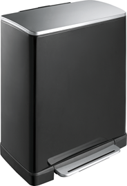 Eko E-cube Pedaalemmer 28+18 liter zwart