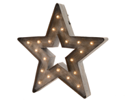 Lumineo LED Ster ijzer buiten 20 LED's 37,5 cm