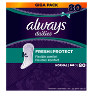 Always Fresh & protect Inlegkruisjes normal 80 stuks