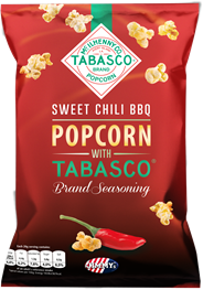 Jimmy's Popcorn Sweet chili BBQ tabasco 90 gram