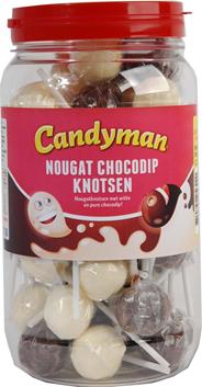 Candyman Nougat chocodip knots 50 stuks