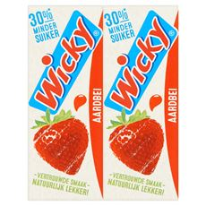 Wicky Original Aardbei 10 x 0,20 L