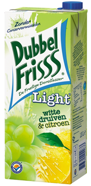 DubbelFrisss Witte druiven & Citroen light 8 x 1,5 liter
