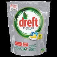 Dreft Platinum lemon Vaatwastabletten 40 stuks