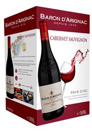 Baron d'Arignac VDF rouge 10 liter