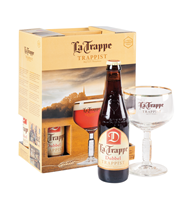 La Trappe Trappist 6 x 4 x 33 cl + Glas