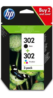 HP 302 Inktcartridge zwart/3-kleuren