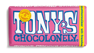 Tony's Chocolonely Wit 28% Framboos Knettersuiker 180 g