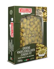 Castellino Groene knoflookolijven zonder pit 1,9 kg