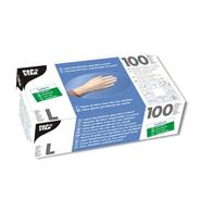 Papstar latex handschoenen gepoederd wit L 100 stuks
