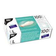 Papstar nitril handschoenen poedervrij wit L 100 stuks