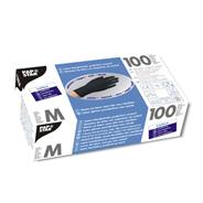 Papstar latex handschoenen poedervrij zwart M 100 stuks