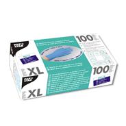 Papstar nitril handschoenen poedervrij blauw XL 100 stuks