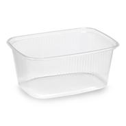 Horeca Select Plastic verpakkingsbekers rechthoek 250 ml 100 stuks