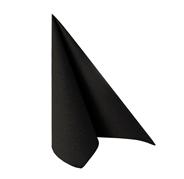 Papstar servetten Royal collection 40 cm zwart 50 stuks