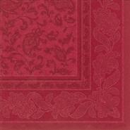 Papstar servetten Royal collection 40 cm ornament bordeaux 50 stuks