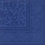 Papstar servetten Royal collection 40 cm ornament donkerblauw 50 stuks