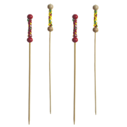 Papstar Spiesje bamboe kleur 12 cm 250 stuks