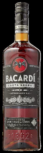 Bacardi Carta negra 12 x 1 liter