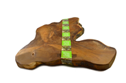 Bowls and Dishes Pure Teak Wood Boomstam plank 45-55 cm