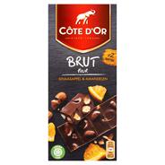 Côte d'Or Brut puur sinaasappel & amandelen 180 gram