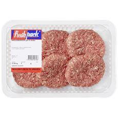 Black Angus runder hamburger 6 stuks