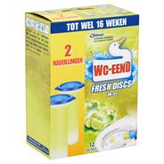 WC-Eend Fresh discs Lime zest navulling 2 x 36 ml