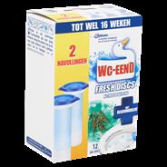 WC-Eend Fresh discs Active eucalyptus navulling 2 x 36 ml