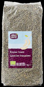 Ekoland Franse linzen gedroogd 1 kg