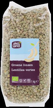 Ekoland Groene linzen gedroogd 1 kg