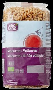 Ekoland Macaroni volkoren 500 gram