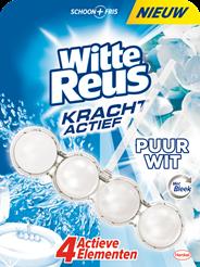 Witte Reus Kracht-actief Puur wit toiletblok