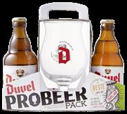 Duvel fles 12 x 330 ml + glas