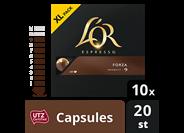 Douwe Egberts L'OR Espresso Forza koffiecapsules grootverpakking 20 stuks
