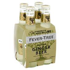 Fever tree ginger beer 4x0.2l