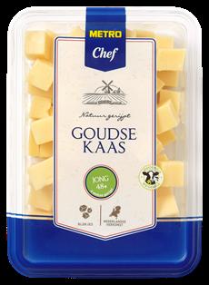 Metro Chef Goudse kaas jong 48+ blokjes 300 gram